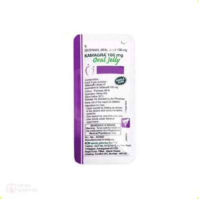 Kamagra 100 mg Oral Jelly Black Currant Flavour (รสแบล็คเคอเรนท์)