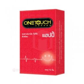 ถุงยางอนามัย One Touch Happy (ผิวเรียบกลิ่นวานิลลา 12ชิ้น)