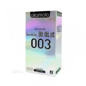 ถุงยางอนามัย Okamoto 003 แพ็ค 10 ชิ้น (บางและคุ้ม)